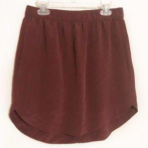 Madewell silk sun-garden shirttail skirt